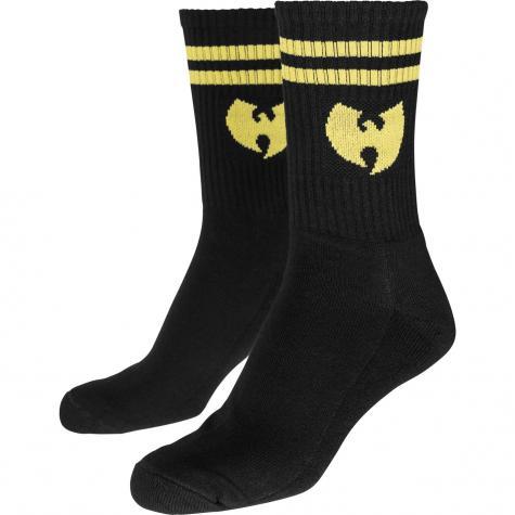 Socks Wu-Wear Logo schwarz/gelb