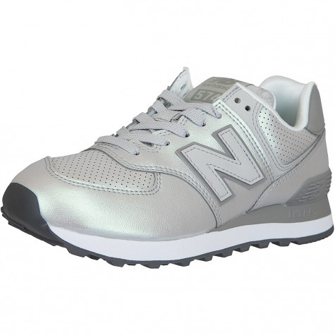 New Balance Damen Sneaker 574 Synthetik/Leder silber