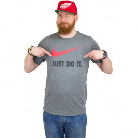 Nike t shirt just do it swoosh dunkelgrau hier bestellen for Nike t shirts just do it