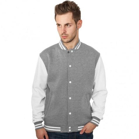 Sweatjacke Urban Classics 2-Tone College Regular F grey/white