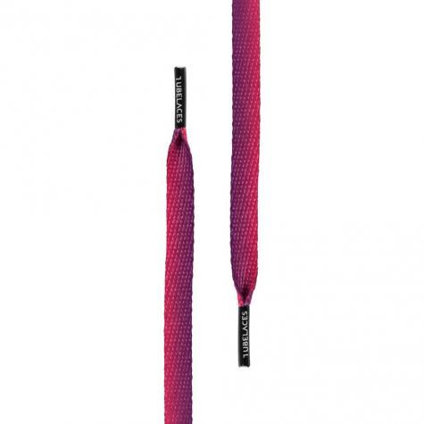 MasterDis Schnürsenkel TubeLaces White Flat Sundowner (130cm) lila
