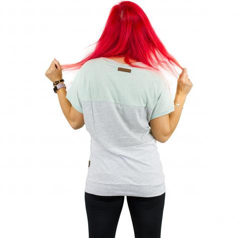 Naketano Damen T-Shirt Meinen Rücken schmücken milky green melange