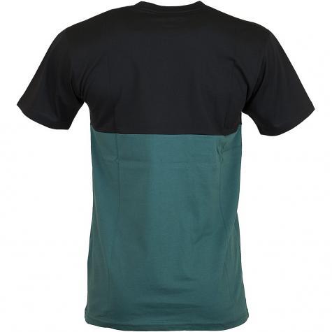 Vans T-Shirt Colorblock schwarz/grün
