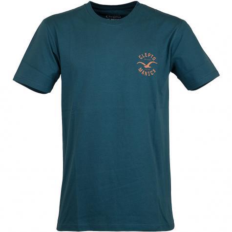 Cleptomanicx T-Shirt Game blau/orange