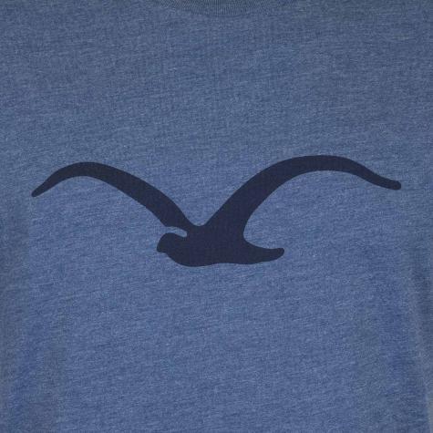 Cleptomanicx T-Shirt Mowe blau/dunkelblau