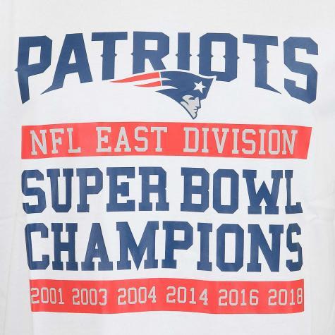 New Era T-Shirt NFL Large Graphic Patriots weiß