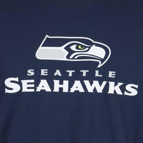 New Era T-Shirt NFL Fan Seattle Seahawks dunkelblau
