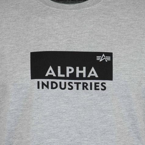 Alpha Industries T-Shirt Box Logo grau