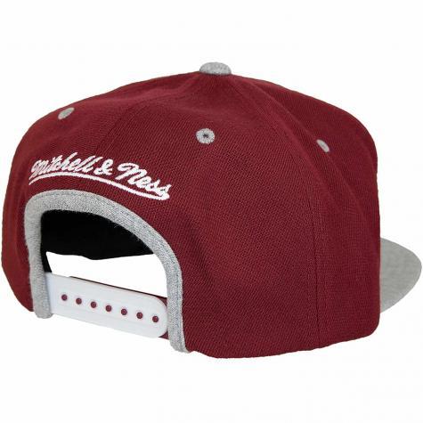 Mitchell & Ness Snapback Cap 2tone Heather Interlocked Own Brand weinrot/grau