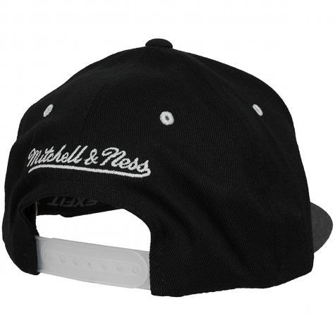 Mitchell & Ness Snapback Cap Flat Peak Golden State Warriors schwarz/dunkelgrau