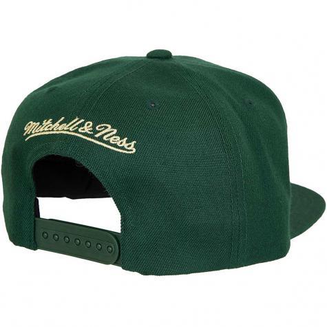 Mitchell & Ness Snapback Cap Silicon Grass Milwaukee Bucks dunkelgrün