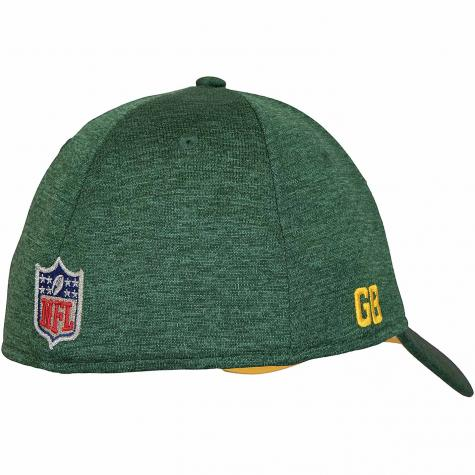 New Era 39Thirty Flexfit Cap OnField Road Greenbay Packers grün/grau