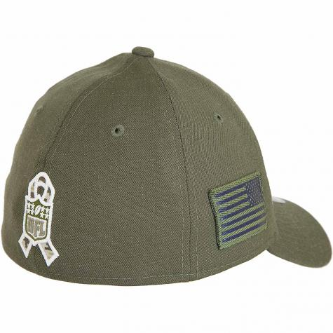 New Era 39Thirty Fitted Cap OnField 18 STS Seattle Seahawks oliv