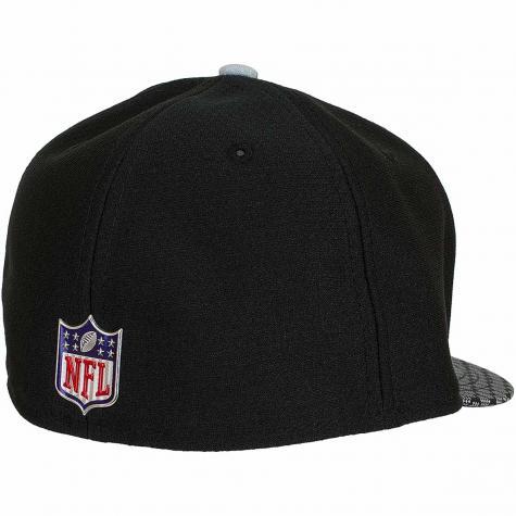 New Era 59Fifty Fitted Cap OnField NFL17 Oakland Raiders schwarz/weiß