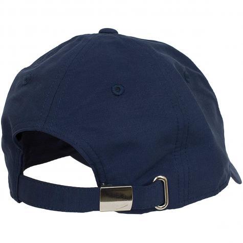 Nike Snapback Cap Metal Swoosh Logo dunkelblau/silber