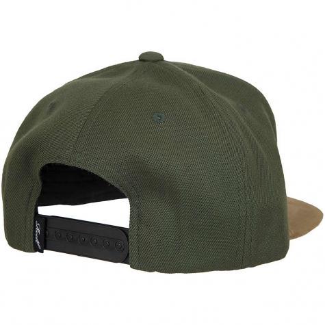 Reell Snapback Cap Suede dark olive