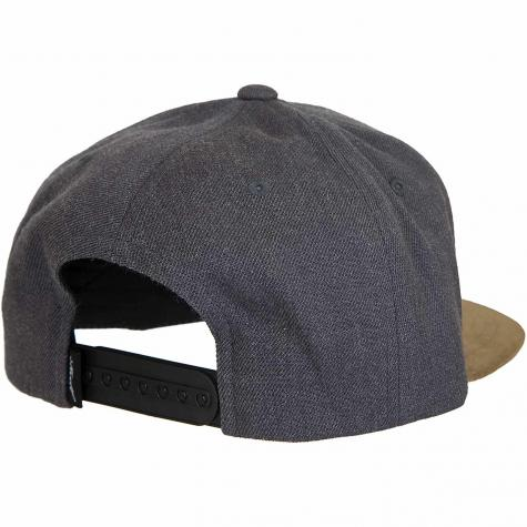 Reell Snapback Cap Suede heather charcoal