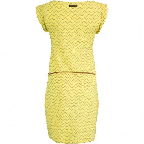 Ragwear Kleid Tag Zig Zag gelb