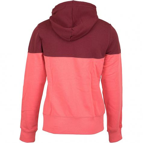Nike Damen Hoody Heritage Fleece weinrot/pink
