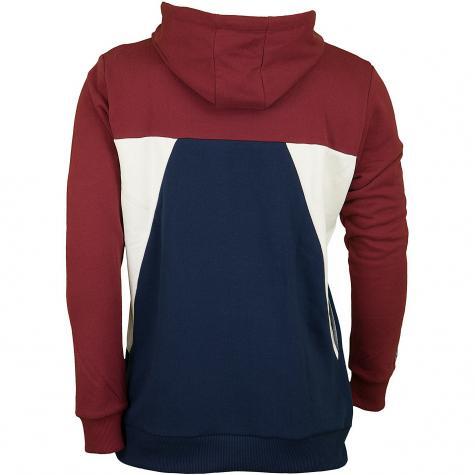 Reell Hoody Color Block rot/dunkelblau
