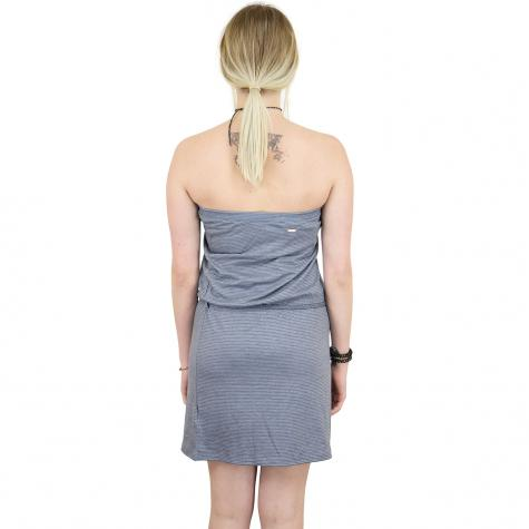 Mazine Kleid Roselle dunkelblau/weiß