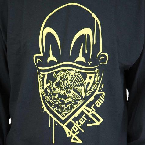 Joker Brand Longshirt Clown Brand schwarz/gelb