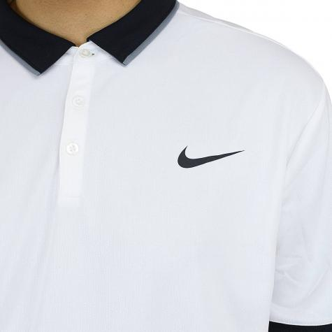 Nike Poloshirt Court Dry Tennis weiß/schwarz