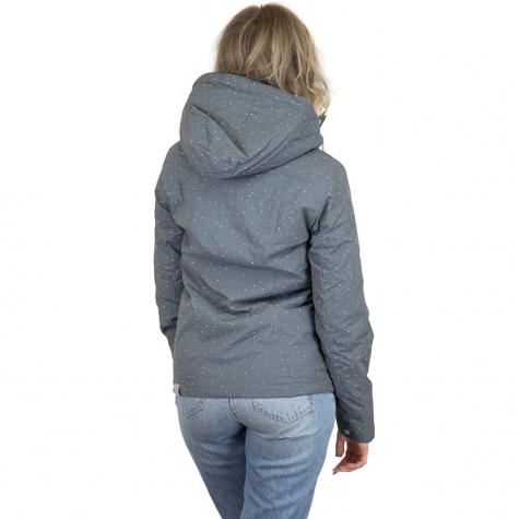 Ragwear Damen-Jacke Lynx Dots dunkelgrau