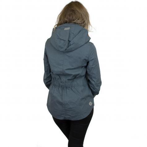 Ragwear Damen-Jacke Monade Stripes dunkelgrau