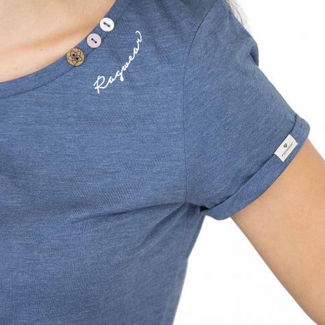 Ragwear Damen T-Shirt Florah Organic blue