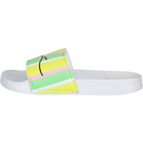 Karl Kani Signature Pool Slides Damen Badelatschen grün/weiß