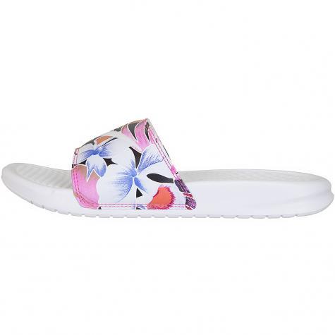 Nike Damen Badelatschen Benassi JDI Print weiß/rot