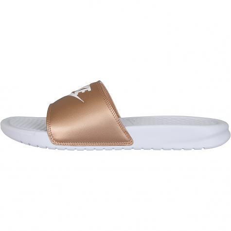 Nike Damen Badelatschen Benassi JDI weiß/bronze