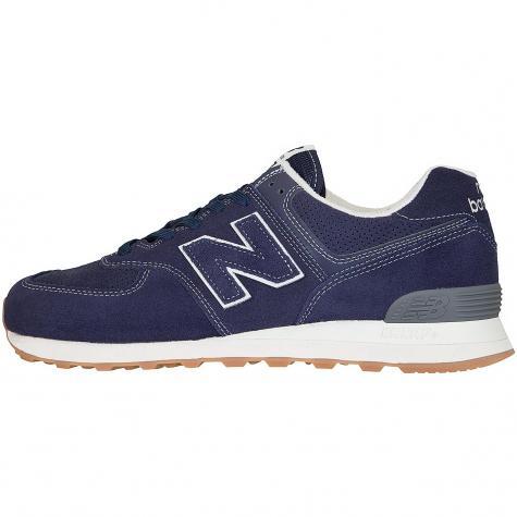 New Balance Sneaker 574 Leder/Synthetik dunkelblau