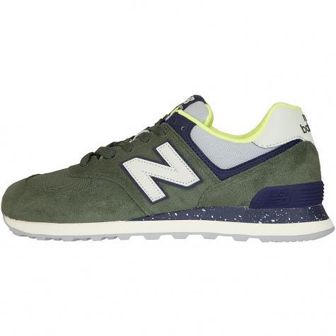 NB Sneaker 574 Leder/Textil/Synthetik grün