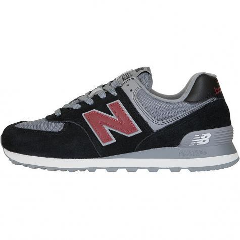 New Balance Sneaker 574 Wildleder/Mesh schwarz