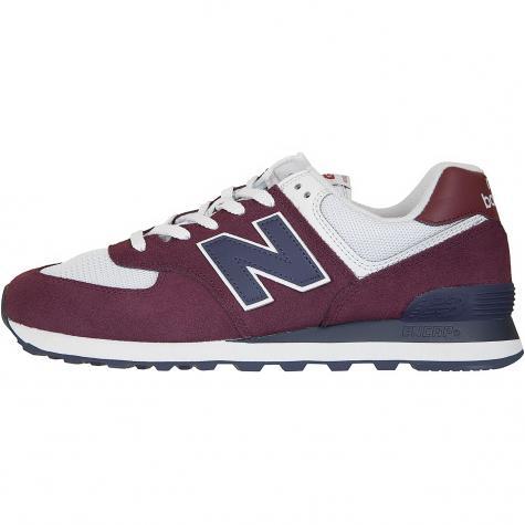 New Balance Sneaker 574 Wildleder/Mesh weinrot