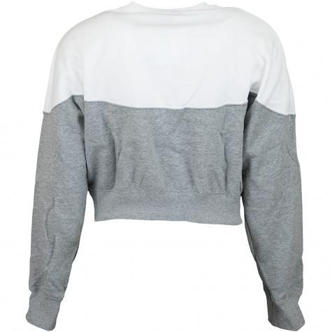 Nike Damen Sweatshirt Heritage Fleece grau/weiß