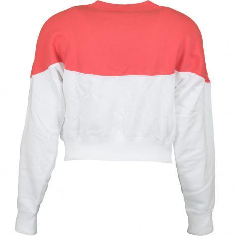 Nike Damen Sweatshirt Heritage Fleece weiß/rot