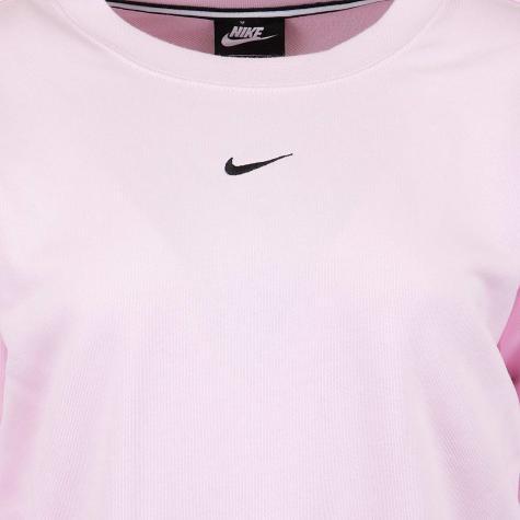 Nike Damen Sweatshirt Logo Tape pink/schwarz