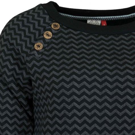Ragwear Damen Sweatshirt Daria Zig Zag E schwarz