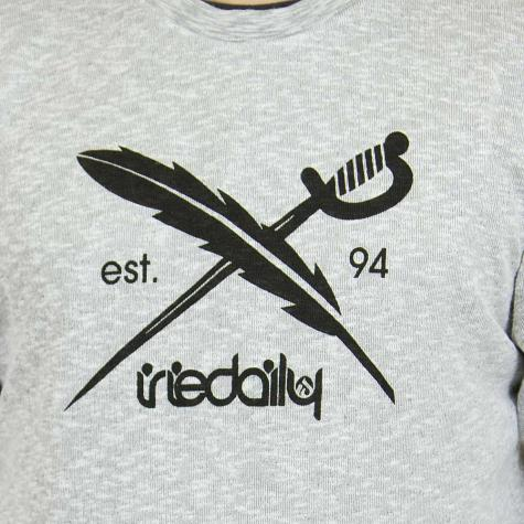 Iriedaily Sweatshirt Flagside weiß meliert