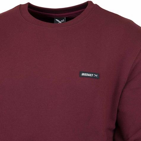Iriedaily Sweatshirt Served Flag bordeaux