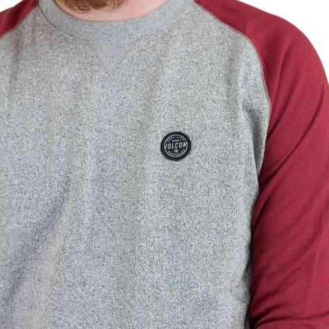 Volcom Sweatshirt Homak grau/rot