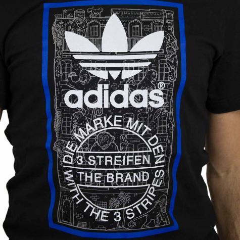 Adidas Originals T-Shirt Brick Tongue schwarz