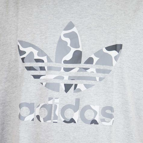 Adidas Originals T-Shirt Camo Trefoil grau