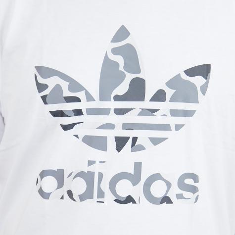 Adidas Originals T-Shirt Camo Trefoil weiß/camo