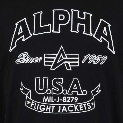 Alpha Industries T-Shirt FJ schwarz