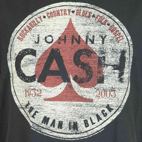 Amplified T-Shirt Johnny Cash Man in black dunkelgrau