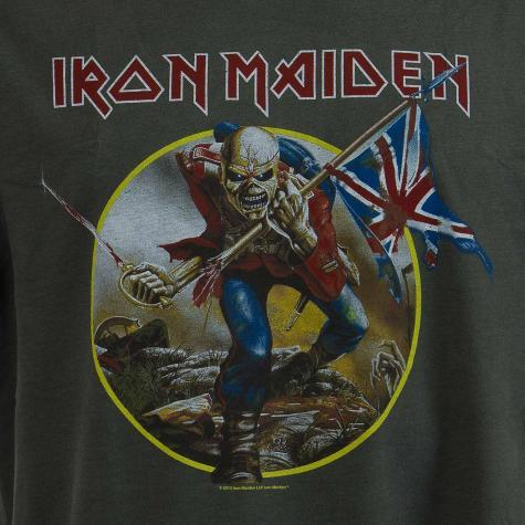 Amplified T-Shirt Iron Maiden Trooper dunkelgrau